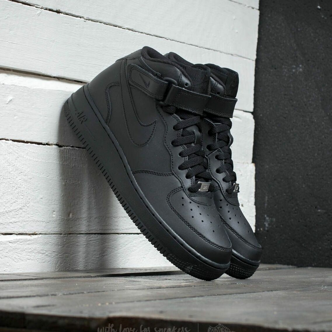 Nike Air Force 1 Mid (GS) Black/ Black EUR 38.5