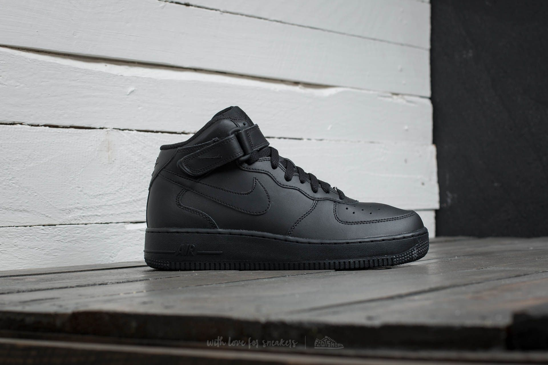 low priced c0afe db142 Nike Air Force 1 Mid (GS) Black Black at a great price 73