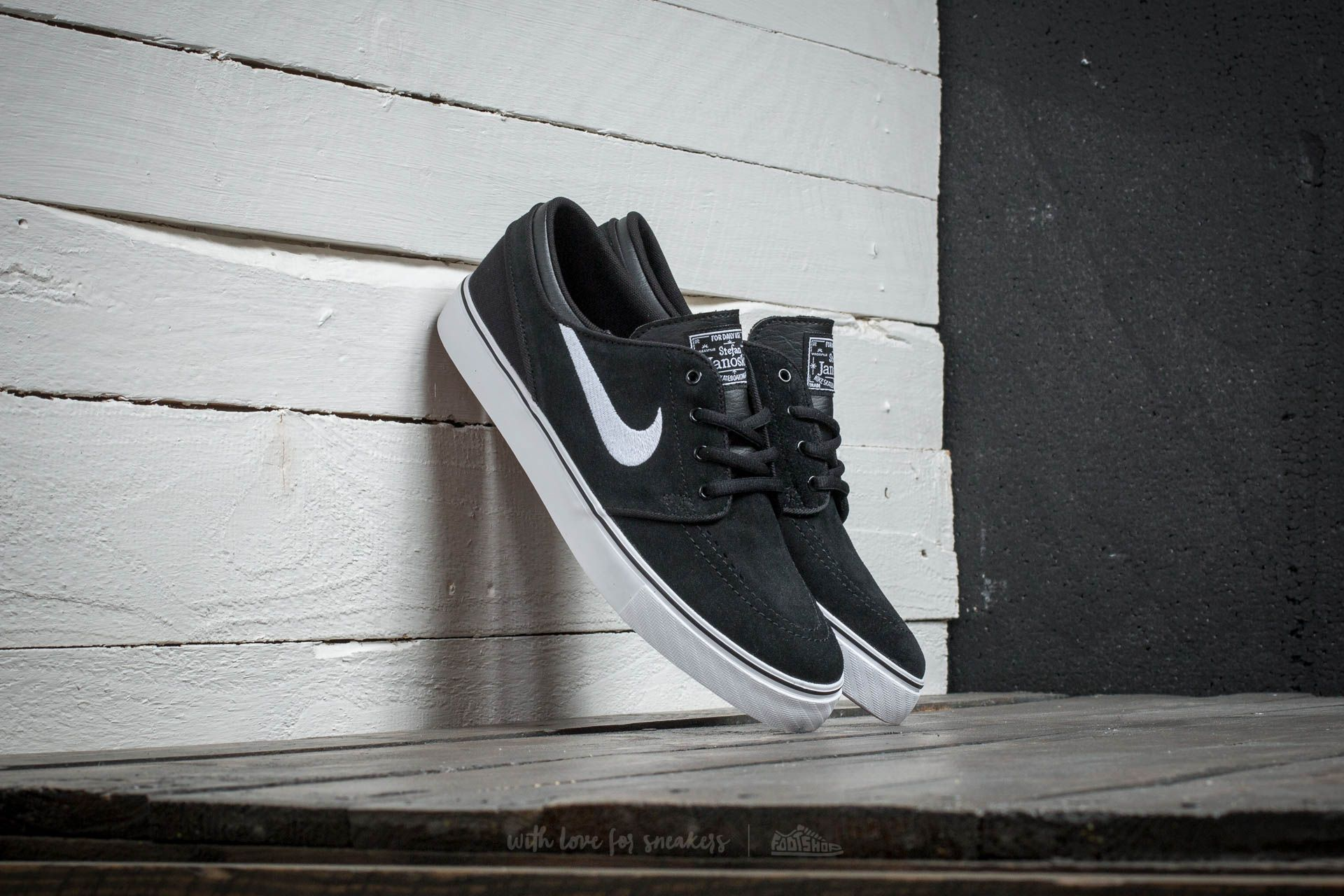 Nike Stefan Janoski (GS) Black/ White - Gum Med Brown