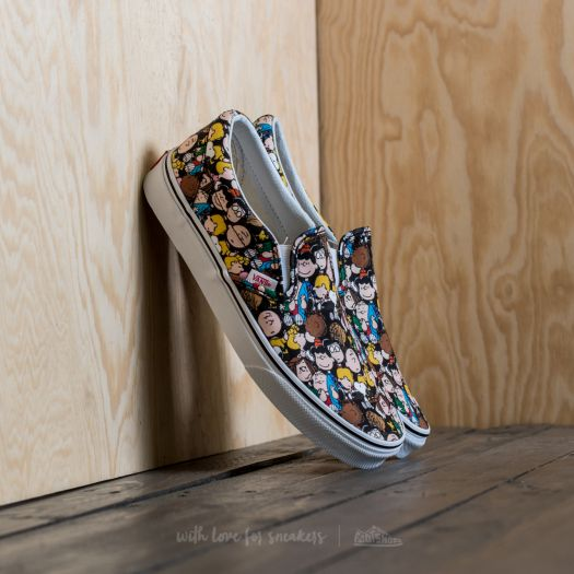 vans x peanuts the gang classic slip-on shoes