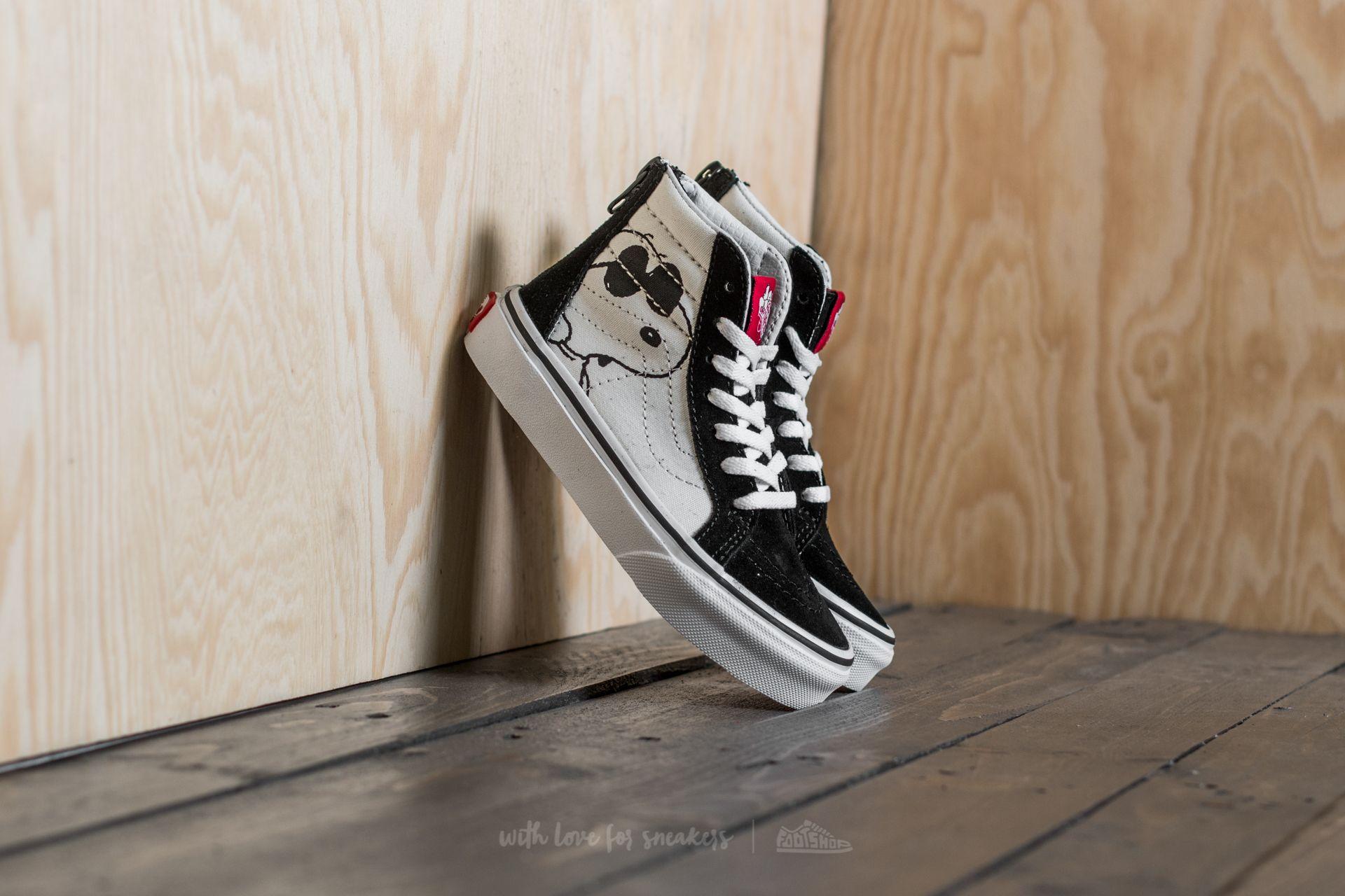 2adc54c9ac51b9 Vans x Peanuts Sk8-Hi Zip Joe Cool  Black