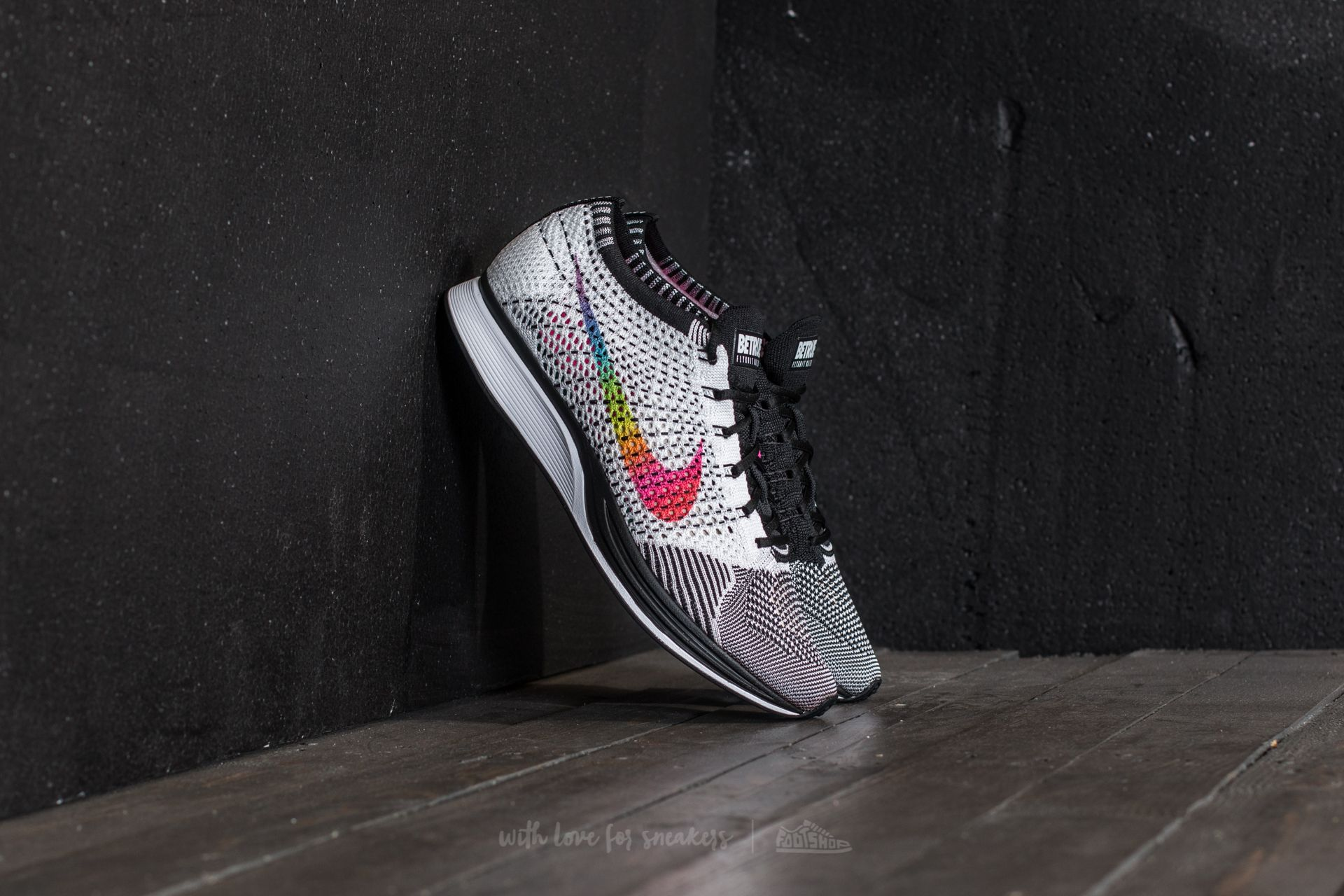 ffc6cc360346 Nike Flyknit Racer Betrue White  Multi-Color-Black