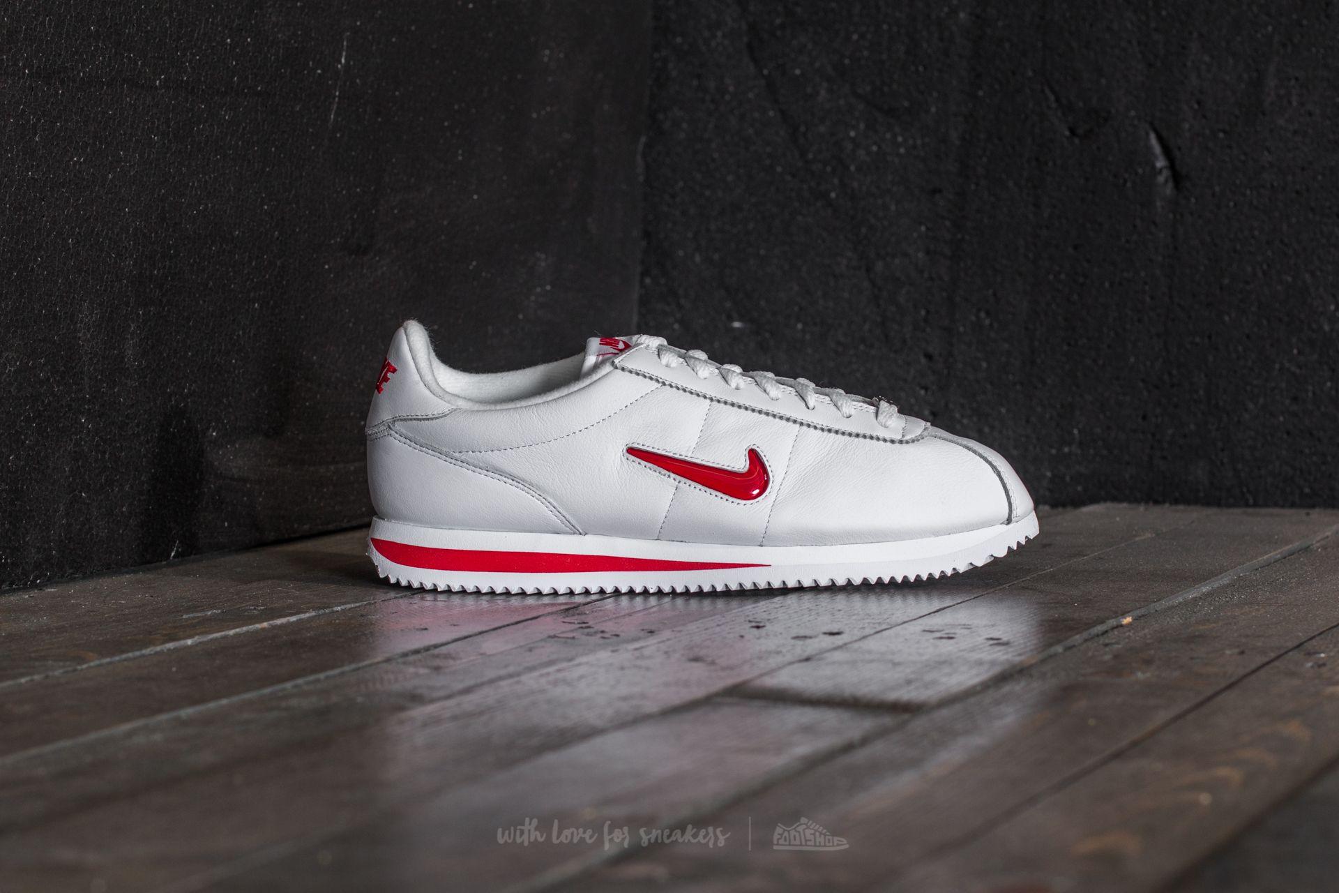 new style bebb0 e627e Nike Cortez Basic Jewel QS TZ White/ University Red   Footshop