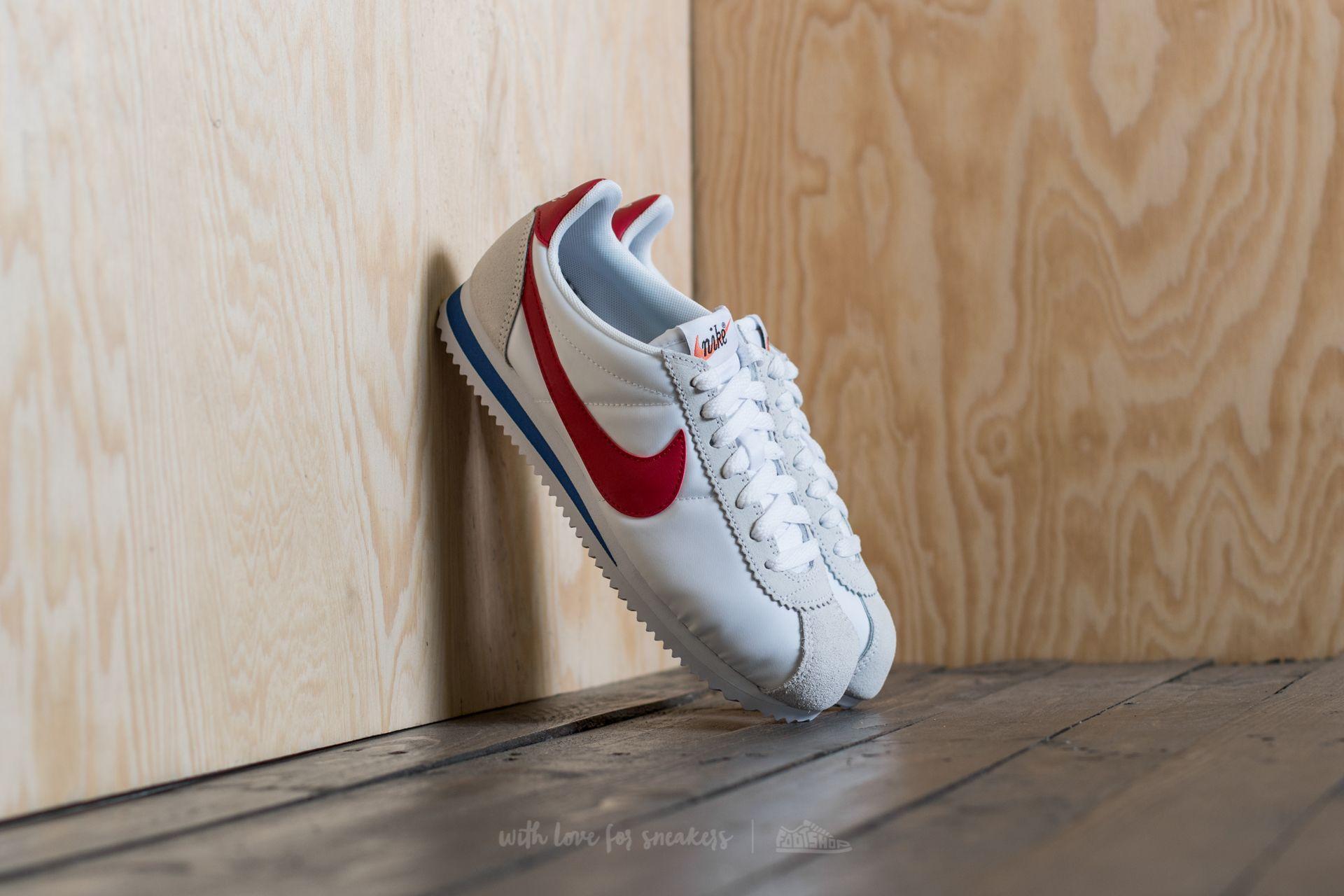 321b95b37ab4 Nike Wmns Classic Cortez Nylon Premium White  Varsity Red