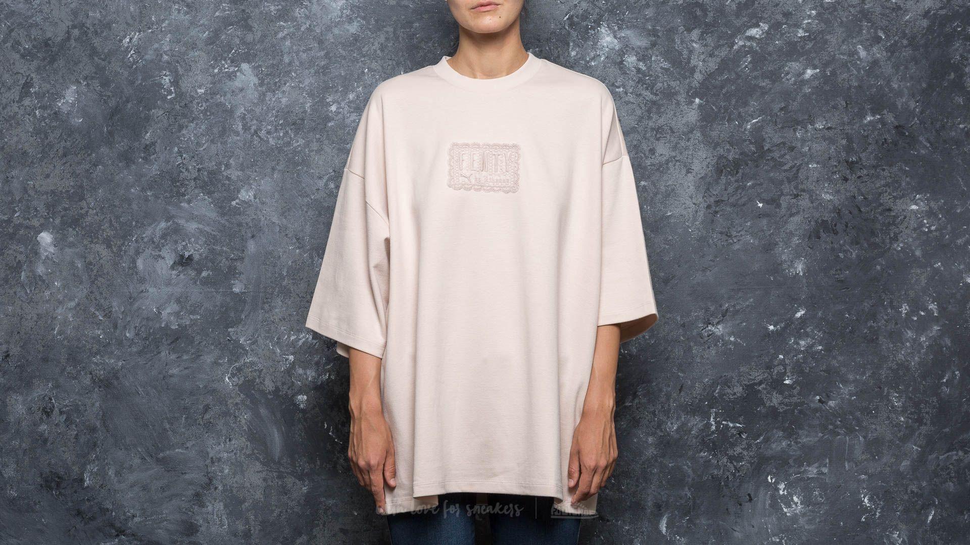 buy online e2614 31f3e Puma Fenty x Rihanna Oversized Crew Neck T-Shirt Pink Tint ...