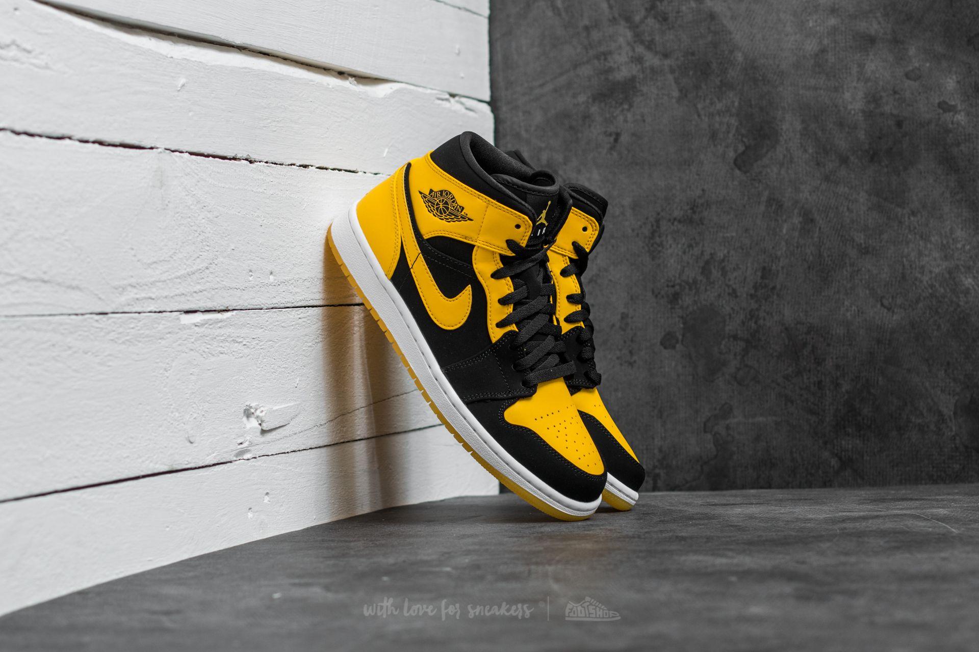 size 40 21c9e e11fd Air Jordan 1 Mid Black/ Varsity Maize-White   Footshop