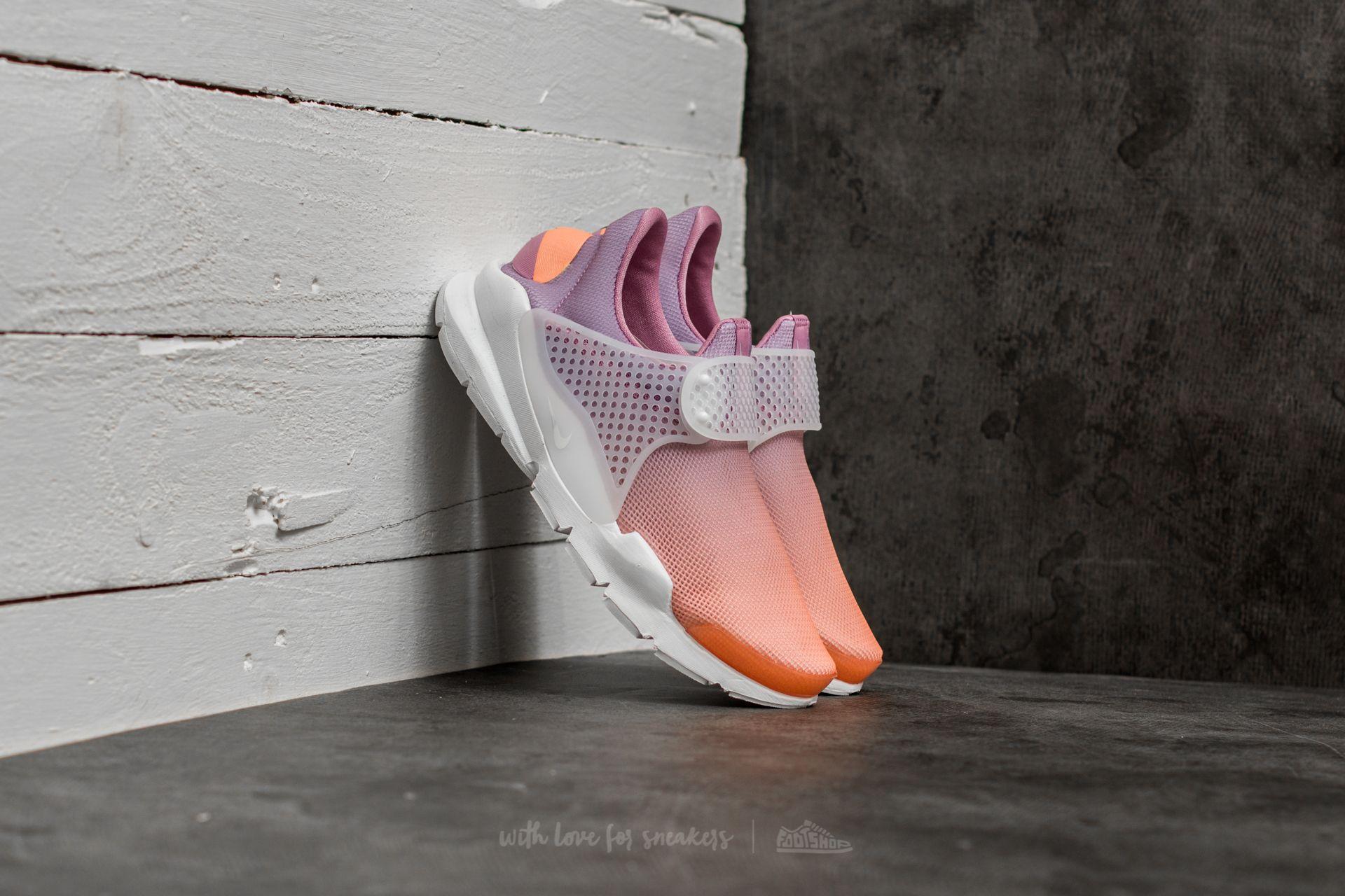 Dámske topánky a tenisky Nike Wmns Sock Dart Br Sunset Glow/ White-Orchid