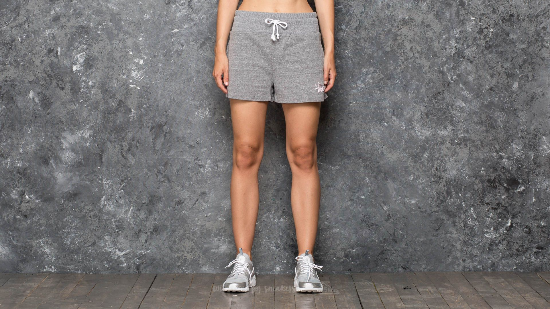 Stüssy Puff Stock Gym Short Grey Heather