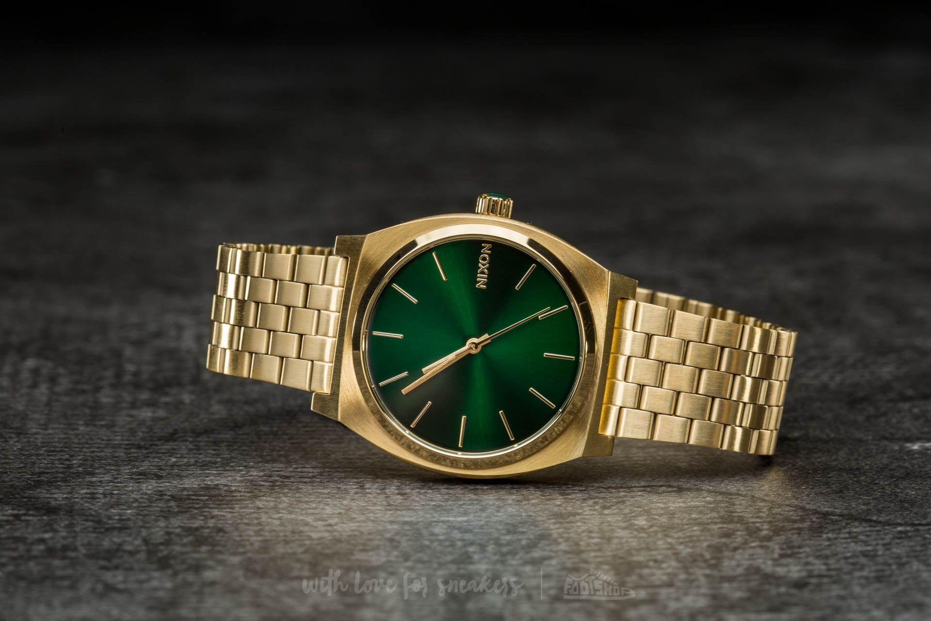 Nixon Time Teller Gold  Green Sunray za skvělou cenu 2 490 Kč koupíte na  Footshop fcd0abffa01