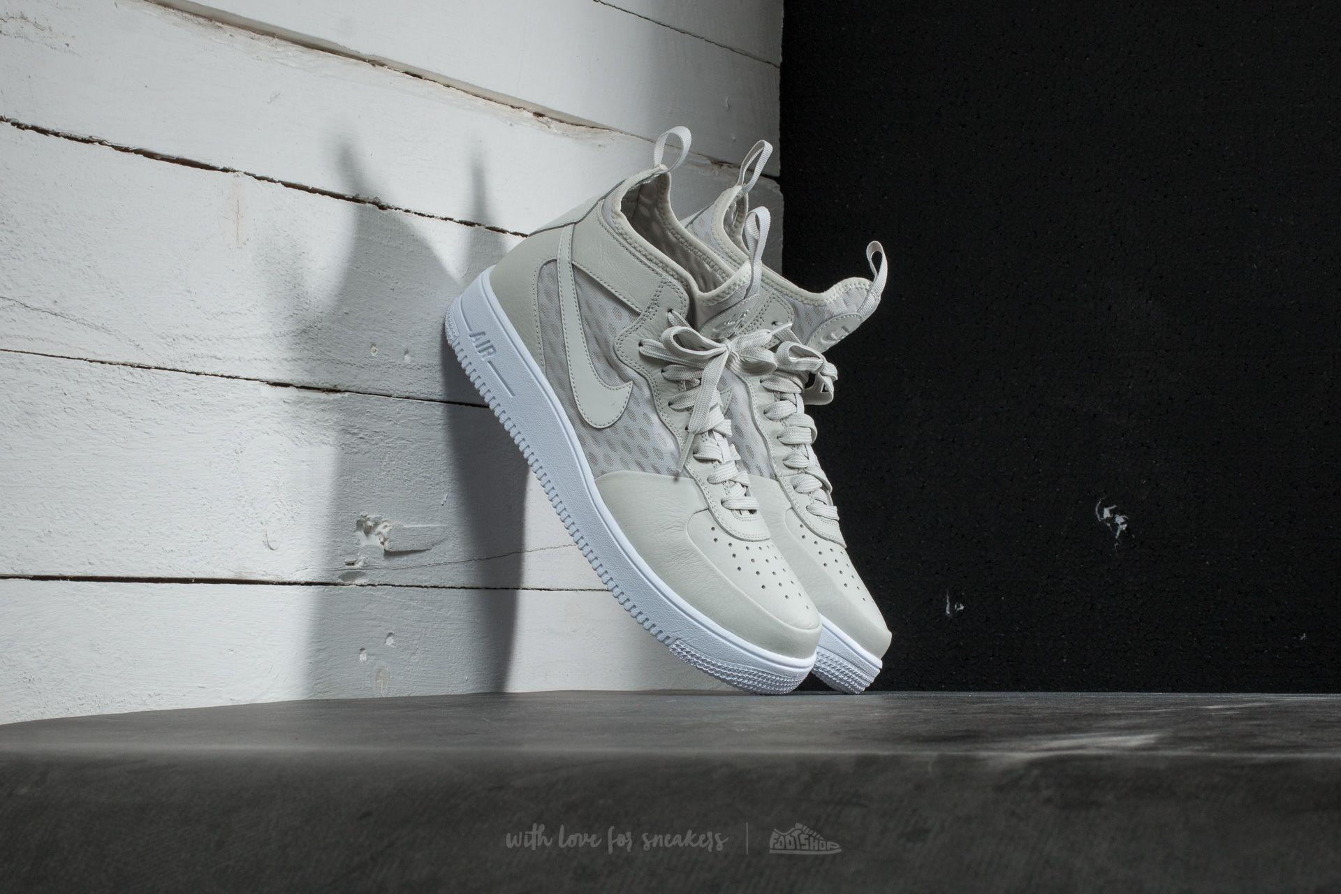 Nike Air Force 1 Mid 07 Uomo, Light Bone White White