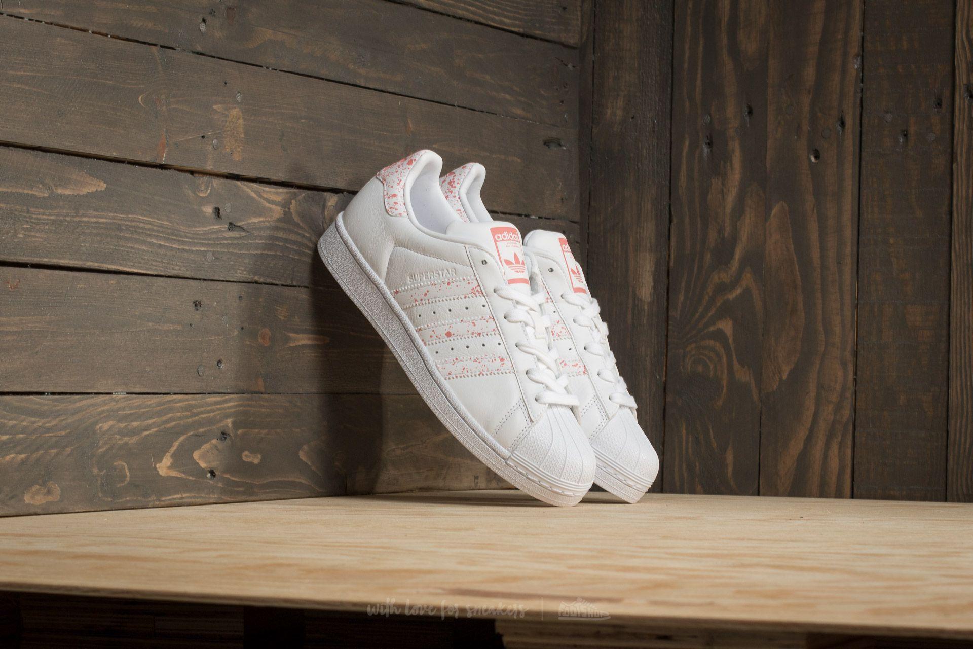 adidas superstar w blanche et rose