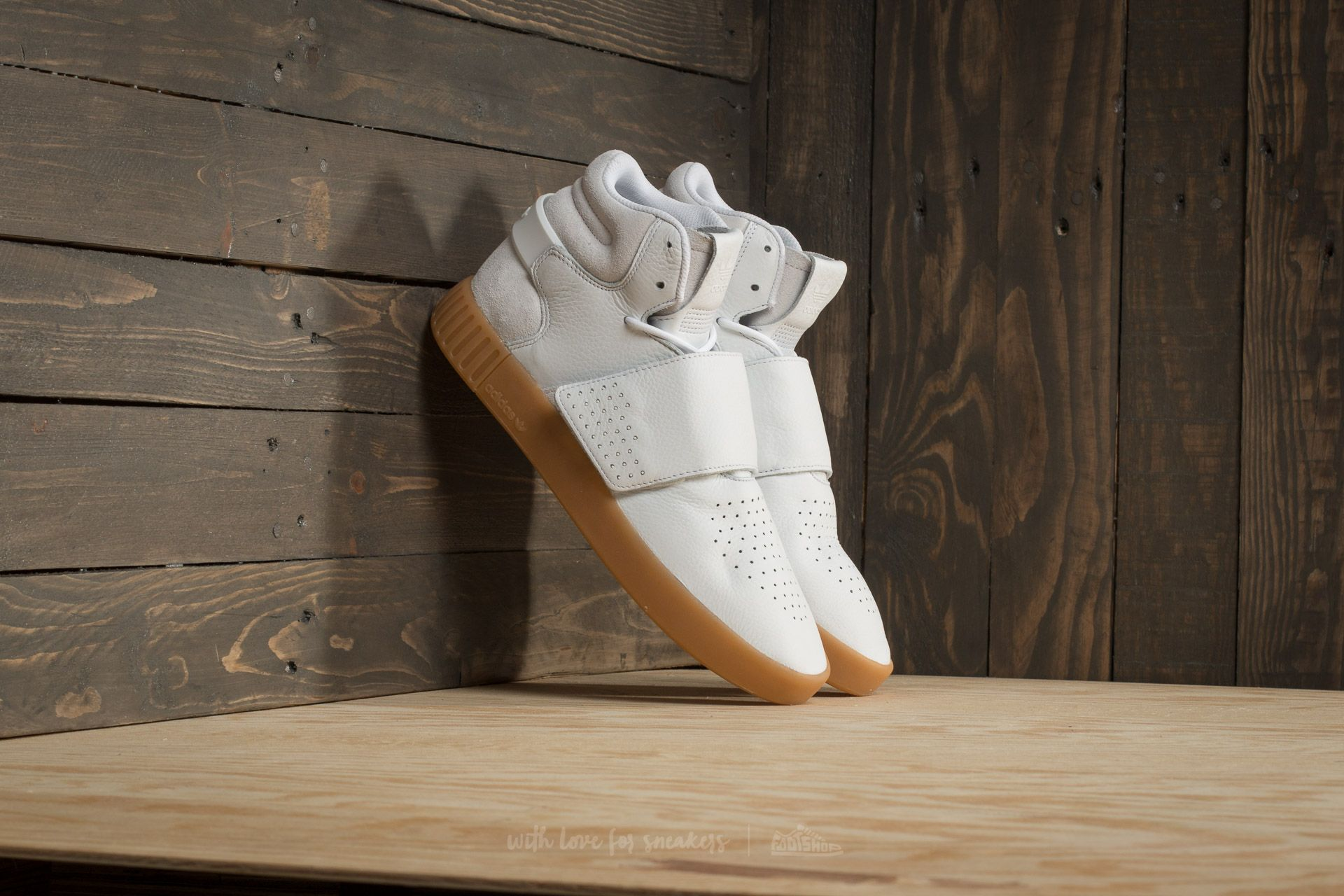 Strap Gum Footwear Black Tubular Invader Core Adidas White qwHTEnpnBf