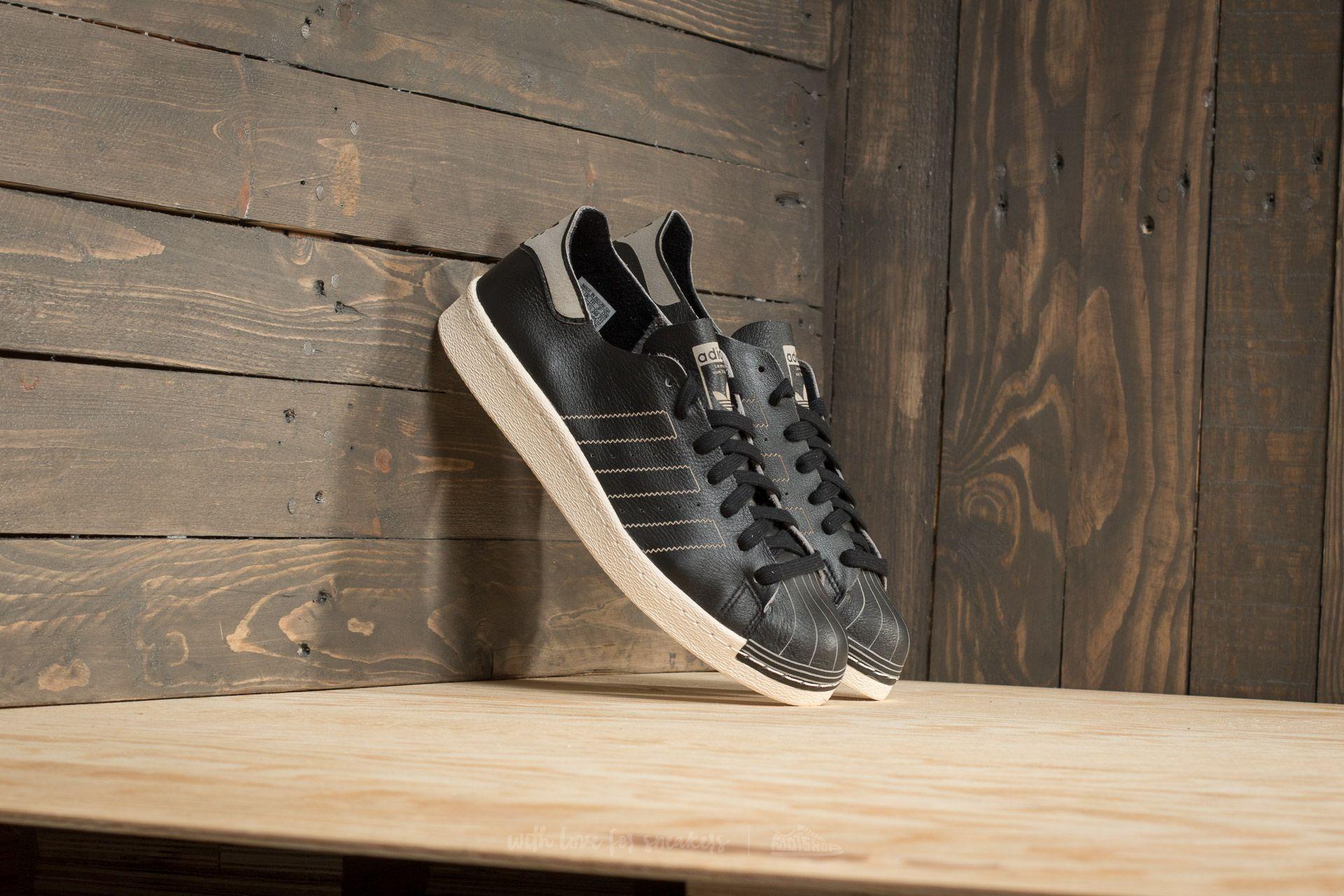 adidas Superstar 80s Decon Core Black Core Black Vintage White | Footshop