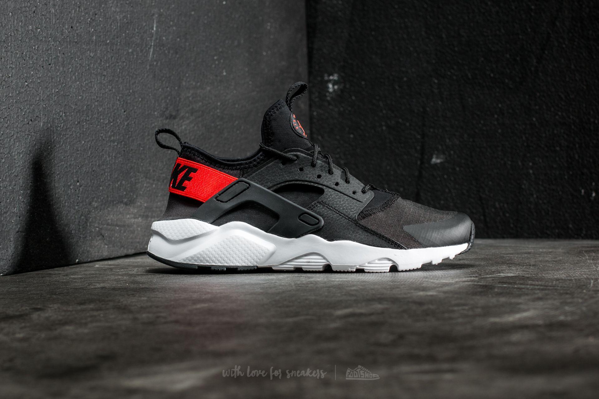 Nike Air Huarache Run Ultra GS Black Max Orange White | Footshop