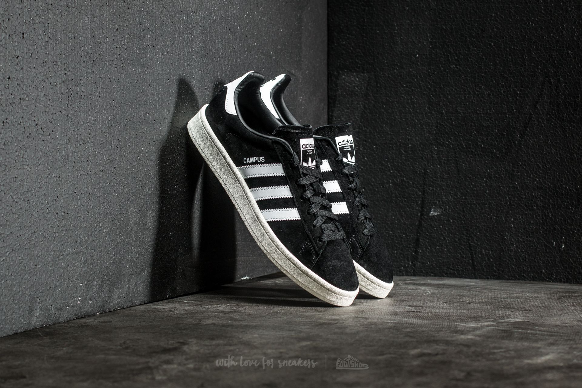 adidas Campus Core Black/ Ftw White/ Chalk White