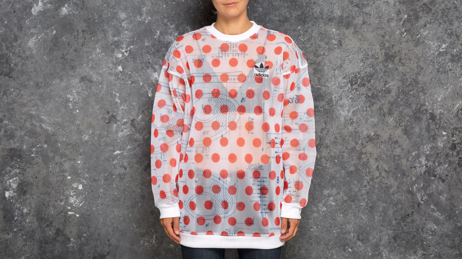 169b33d1b5673 adidas Osaka Sweatshirt White/ Bold Orange | Footshop