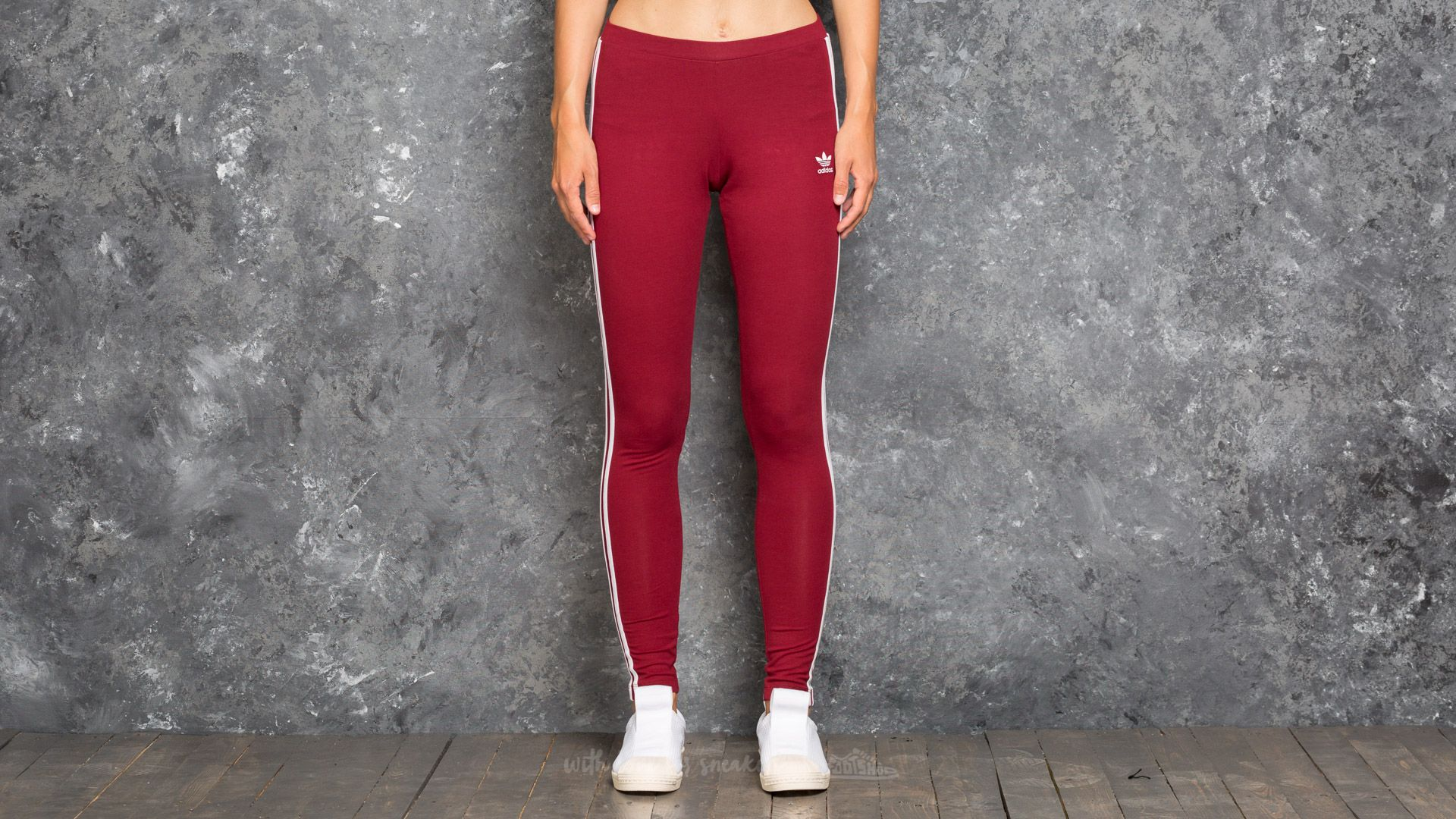 adidas 3 Stripes Leggings Collegiate Burgundy | Footshop