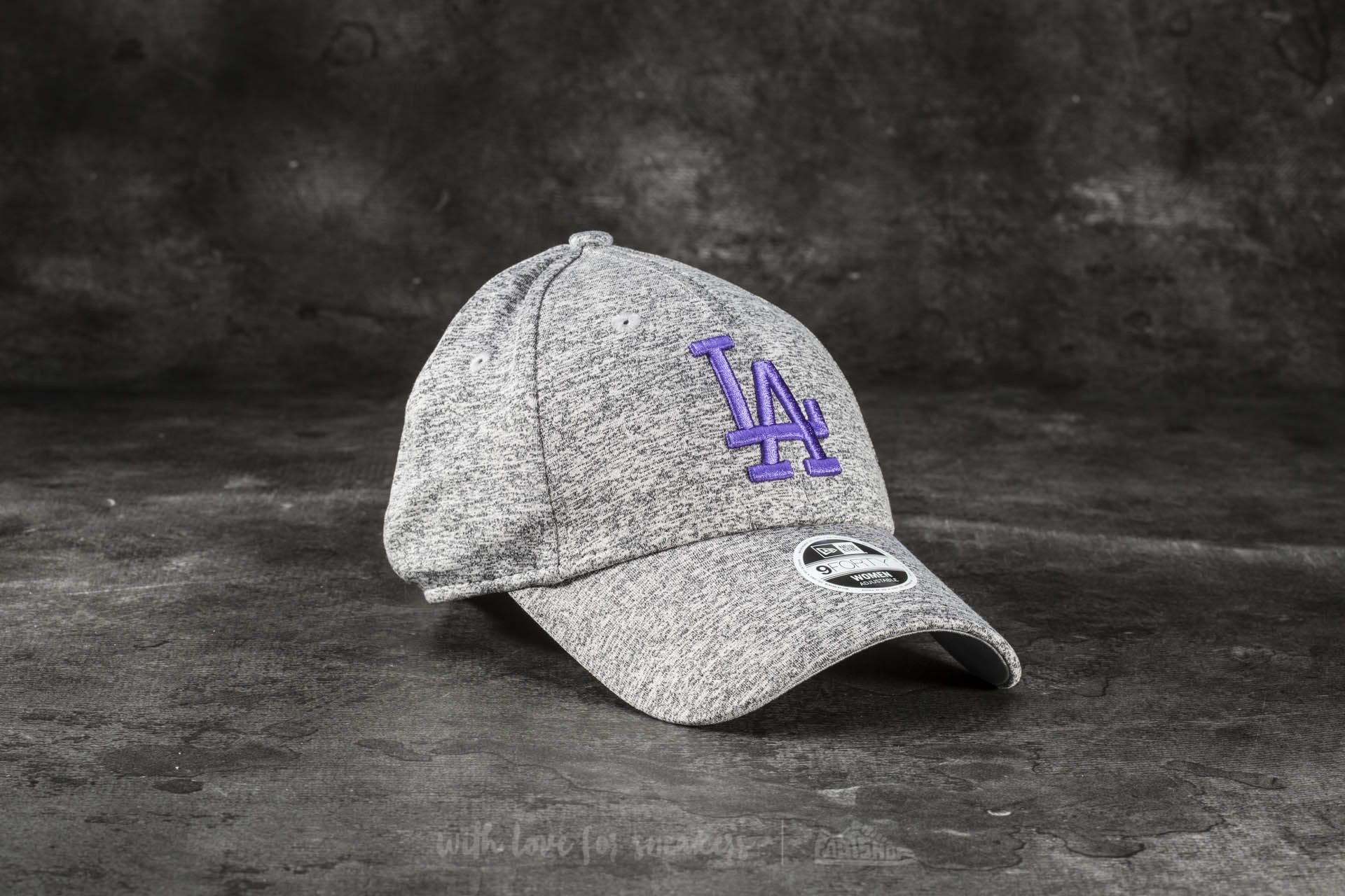 New Era 9Forty Women Tech Jersey Los Angeles Dodgers Cap Gray  Violet at a  great 027ad49ecead