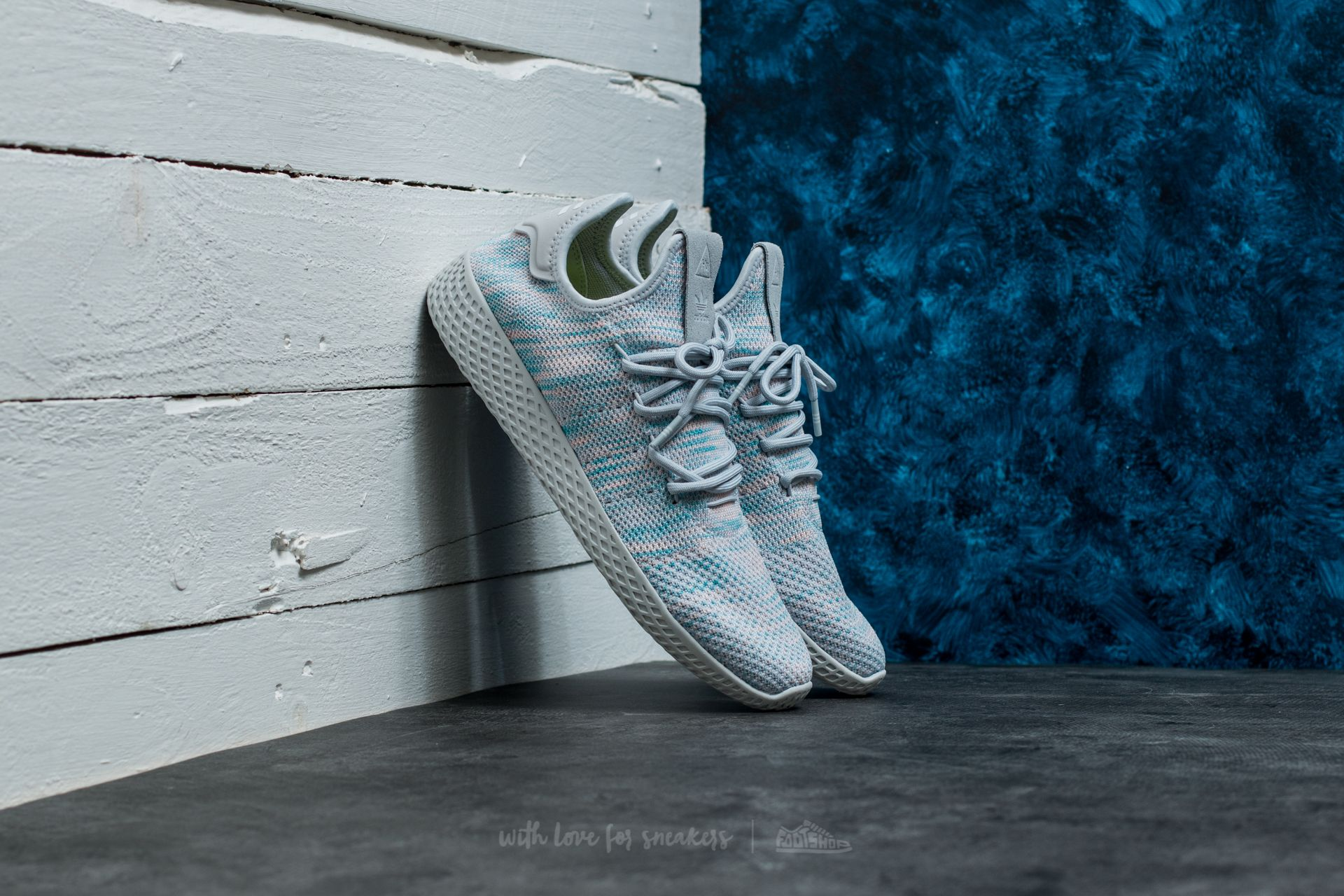 9c0e65f5e adidas Pharrell Williams Tennis HU Light Blue  Light Blue