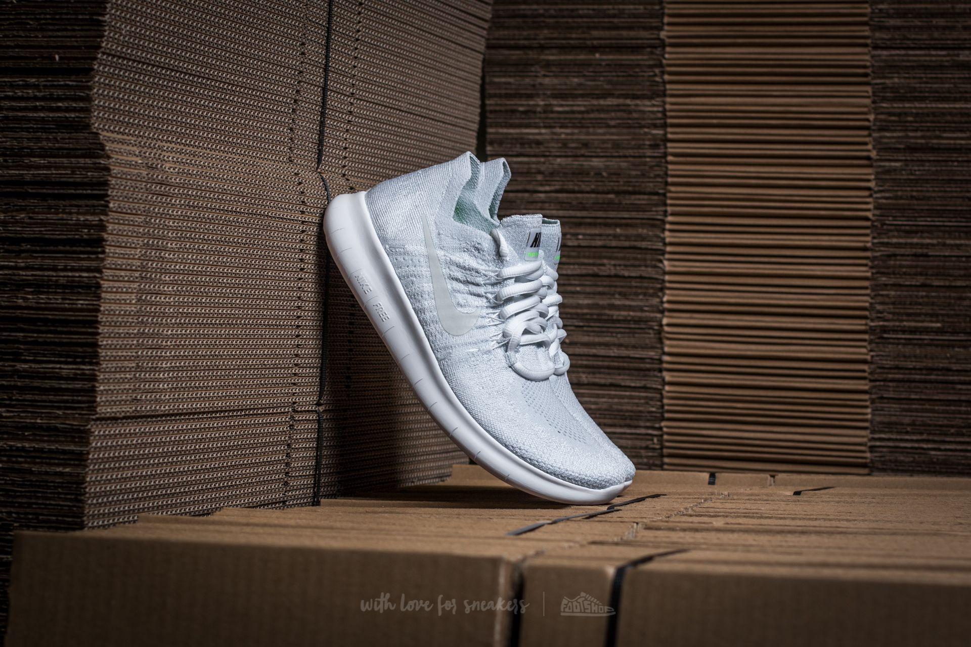 separation shoes 15780 ec91d Nike Wmns Free RN Flyknit 2017 White/ White-Pure Platinum | Footshop