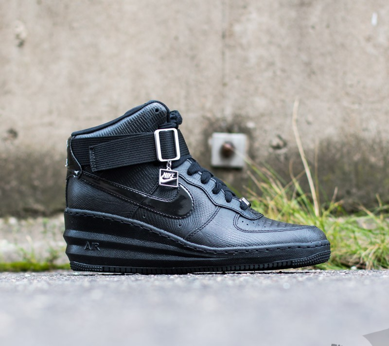 purchase cheap b851d 6ef6e Nike WMNS Lunar Force 1 Sky Hi Black Black-Metallic Silver