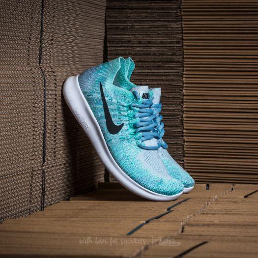 size 40 5205c fa243 Nike Wmns Free RN Flyknit 2017 Blue Tint/ Black-Cirrus Blue ...